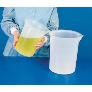 Large Volume Polypropylene Beakers. Non-Graduated