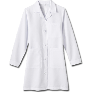 "1964 Meta Ladies 37"" Labcoat with iPad® Pocket. White Swan Brands"