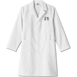 "6116 Meta Unisex 40"" White Labcoat. White Swan Brands"