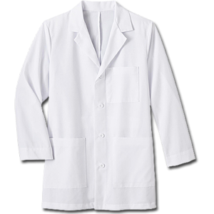 "1168 Meta Men's 34"" Mid-Length Labcoat. White Swan Brands"