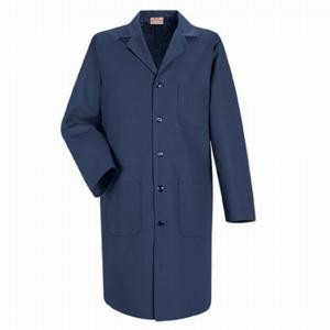 "6116 Meta Unisex 40"" Navy Blue Labcoat. White Swan Brands"