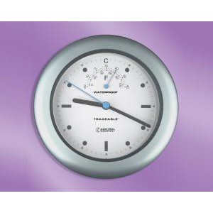 Traceable® Waterproof Indoor/Outdoor Clock