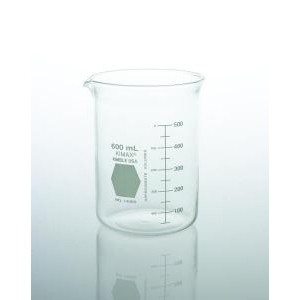 KIMAX® Griffin Low Form Beakers w/Double Capacity Scale