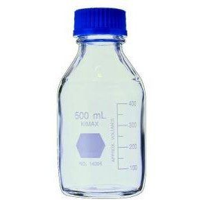 KIMAX® GL-45 Media/Storage Bottles with Color Polypropylene Caps