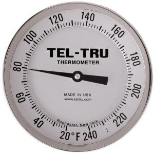 "Adjustable-Angle Head Dial Thermometers, 5"" Face with 2-1/2"" Stem"