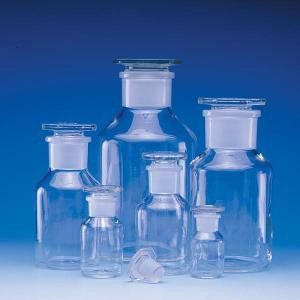 Wide-Mouth Bottles w/Ground Glass Stoppers
