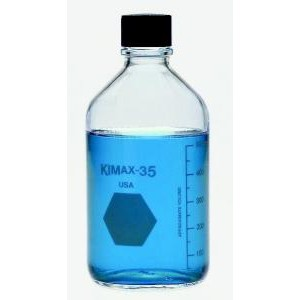 KIMAX® Media/Storage Bottles with PTFE-Faced White Rubber-Lined Closure