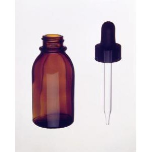 Kimble® Amber Glass Dropping Bottles with Glass Dropper
