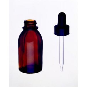 Kimble® Amber Glass Dropping Bottles with Plastic Dropper