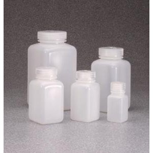 Wide-Mouth Square Bottle, HDPE. Nalgene