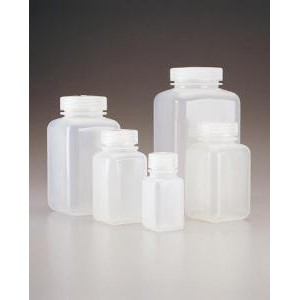 Square Wide-Mouth Bottles, Polypropylene. Nalgene