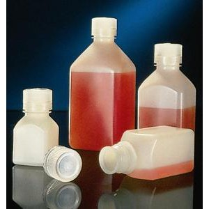 Narrow-Mouth Square Bottle, Polypropylene. Nalgene