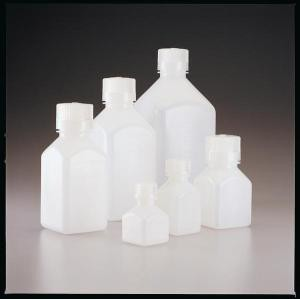 Graduated Square Bottles, Narrow-Mouth. HDPE. Nalgene