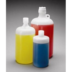 Large Narrow-Mouth LDPE Bottles. Nalgene