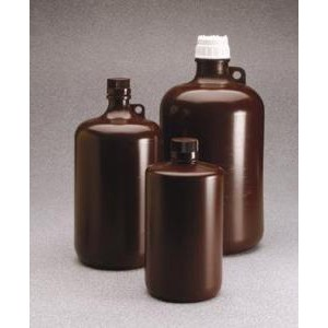Large Amber Narrow-Mouth Bottles, Polypropylene. Nalgene