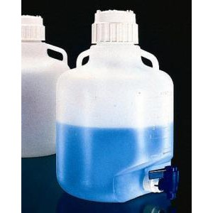 Graduated LDPE Carboys with Spigot. Nalgene