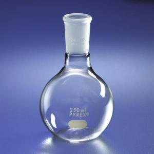 PYREX® Flat Bottom Boiling Flasks with 24/40 TS Short Neck