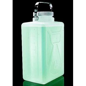 Autoclavable Rectangular Carboys w/SS Handles. Nalgene