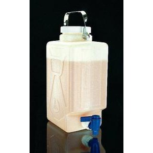 Rectangular HDPE Graduated Carboys with Spigot. Nalgene
