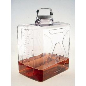 Clearboy Low Profile Rectangular Carboys. Nalgene