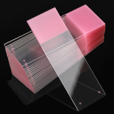 Microscope Slides, White Glass, 25 x 75mm, Charged, Frosted, Colors Available