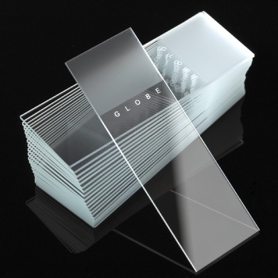 Microscope Slides, Diamond White Glass, Frosted,  25 x 75mm