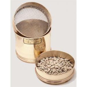 "8"" Coarse Mesh Sieves with Brass Frame and Stainless Steel Cloth"