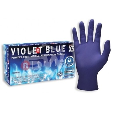 Violent Blue X5 Nitrile Exam Gloves
