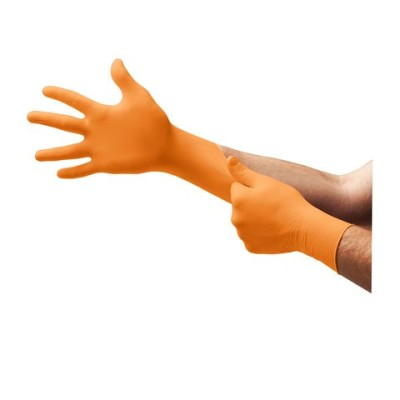 Blaze N48 High Visibility Powder-Free Nitrile Gloves w/ Extended Cuff