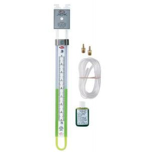 Portable U-Type Manometer, Plastic with Magnetic Clips