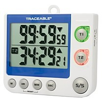 Traceable® Flashing LED Big-Digit Memory Countdown/up 2 Channel Timer