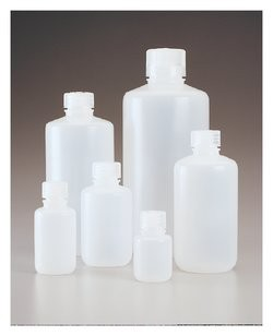 Nalgene™ Narrow-Mouth Economy HDPE Bottles