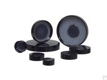 43-400 Black Phenolic Cap with Solid PE Liner