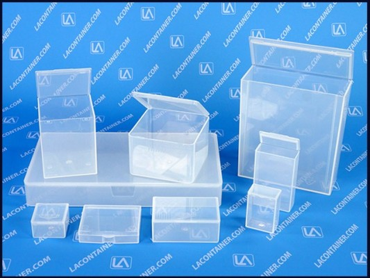Flex-A-Top® Hinged-Lid Plastic Boxes