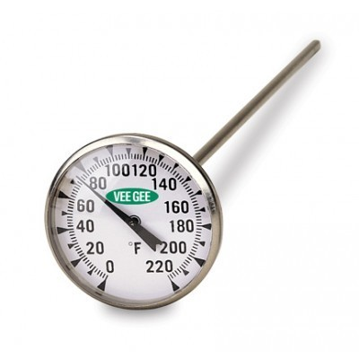 .75 in Dial Thermometer 0 to 220°F