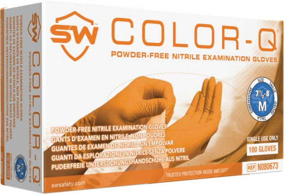 Color-Q Orange Gloves