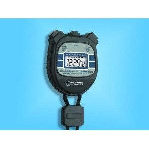 Water/Shock Resistant 24-Hour Stopwatch. NIST Traceable®