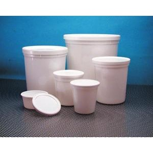 HDPE Disposable Specimen Containers, White