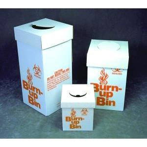 Burn-Up Bin Disposal Box
