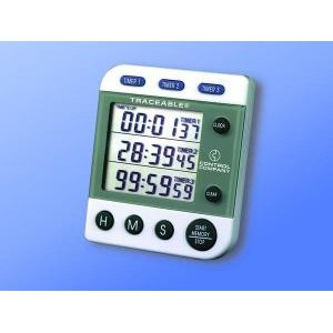 Traceable® 3-Channel 100 Hour Alarm Jumbo Timer