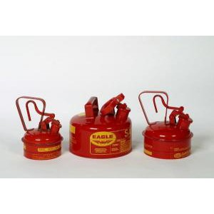 Galvanized Steel Type 1 Red Metal Safety Cans. Eagle
