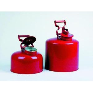 Red Galvanized Steel Waste Disposal Safety Cans. Eagle