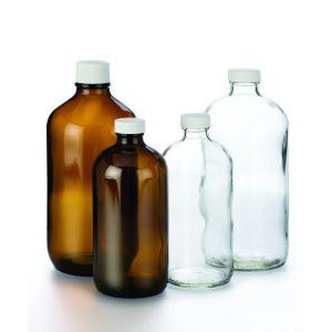 Boston Round Bottles, Precleaned