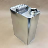 Sample Can | 1 gallon | U.N. Certified Oblong | F-Style | Metal | 40/Case (Closures sold separately