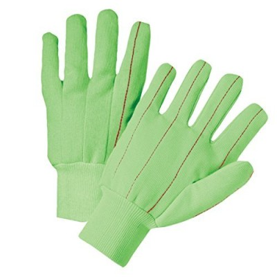 West Chester Green Cotton Fully Corded Glove, Large (Pack of 12