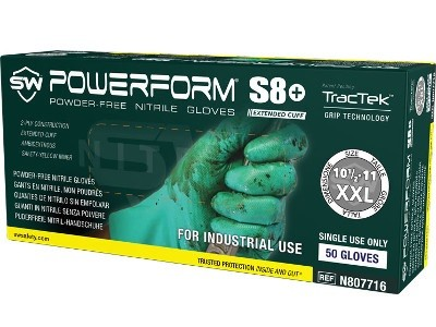PowerForm S8+ High Performance Grip Nitrile Gloves