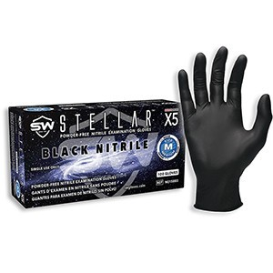 Stellar® S6 Nitrile Powder-Free Industrial Gloves EcoTek Biodegradable