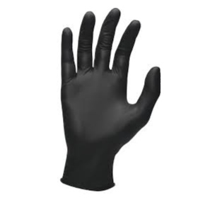 Powder-Free Black Nitrile Single-Use Gloves