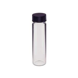 KIMBLE® Glass Sample Vials with Black Phenolic Polyseal® Cone Closure Attached