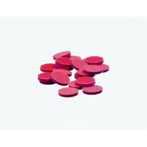 KIMBLE® Flat Disc Septa, PTFE-Faced Red Rubber